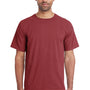 ComfortWash by Hanes Mens Short Sleeve Crewneck T-Shirt - Cayenne Red