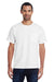 ComfortWash By Hanes GDH150 Mens Short Sleeve Crewneck T-Shirt w/ Pocket White Front