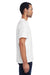 ComfortWash By Hanes GDH150 Mens Short Sleeve Crewneck T-Shirt w/ Pocket White Side