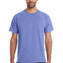 ComfortWash By Hanes Mens Short Sleeve Crewneck T-Shirt w/ Pocket - Deep Forte Purple