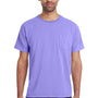 ComfortWash by Hanes Mens Short Sleeve Crewneck T-Shirt w/ Pocket - Lavender Purple