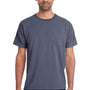 ComfortWash By Hanes Mens Short Sleeve Crewneck T-Shirt w/ Pocket - Anchor Slate Blue