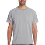 ComfortWash By Hanes Mens Short Sleeve Crewneck T-Shirt w/ Pocket - Concrete Grey