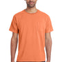 ComfortWash by Hanes Mens Short Sleeve Crewneck T-Shirt w/ Pocket - Horizon Orange