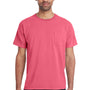 ComfortWash By Hanes Mens Short Sleeve Crewneck T-Shirt w/ Pocket - Crimson Fall