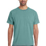 ComfortWash By Hanes Mens Short Sleeve Crewneck T-Shirt w/ Pocket - Cypress Green