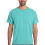 ComfortWash By Hanes Mens Short Sleeve Crewneck T-Shirt w/ Pocket - Mint Green