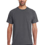 ComfortWash By Hanes Mens Short Sleeve Crewneck T-Shirt w/ Pocket - Railroad Grey