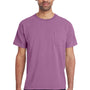 ComfortWash By Hanes Mens Short Sleeve Crewneck T-Shirt w/ Pocket - Plum Purple