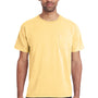 ComfortWash By Hanes Mens Short Sleeve Crewneck T-Shirt w/ Pocket - Summer Squash Yellow