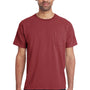 ComfortWash by Hanes Mens Short Sleeve Crewneck T-Shirt w/ Pocket - Cayenne Red