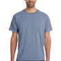ComfortWash by Hanes Mens Short Sleeve Crewneck T-Shirt w/ Pocket - Saltwater Blue