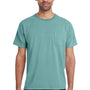 ComfortWash by Hanes Mens Short Sleeve Crewneck T-Shirt w/ Pocket - Spanish Moss Green