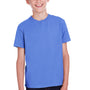 ComfortWash by Hanes Youth Short Sleeve Crewneck T-Shirt - Deep Forte Blue