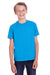 ComfortWash by Hanes GDH175 Youth Short Sleeve Crewneck T-Shirt Sky Blue Front