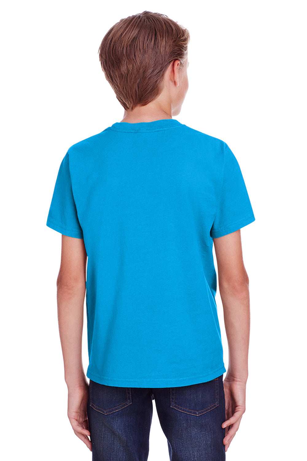ComfortWash by Hanes GDH175 Youth Short Sleeve Crewneck T-Shirt Sky Blue Back
