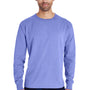 ComfortWash By Hanes Mens Long Sleeve Crewneck T-Shirt - Deep Forte Purple