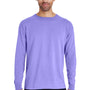 ComfortWash by Hanes Mens Long Sleeve Crewneck T-Shirt - Lavender Purple