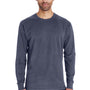 ComfortWash By Hanes Mens Long Sleeve Crewneck T-Shirt - Anchor Slate Blue