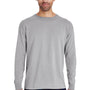 ComfortWash By Hanes Mens Long Sleeve Crewneck T-Shirt - Concrete Grey