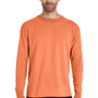 ComfortWash by Hanes Mens Long Sleeve Crewneck T-Shirt - Horizon Orange