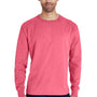 ComfortWash By Hanes Mens Long Sleeve Crewneck T-Shirt - Crimson Fall