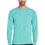 ComfortWash By Hanes Mens Long Sleeve Crewneck T-Shirt - Mint Green