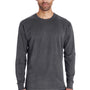 ComfortWash By Hanes Mens Long Sleeve Crewneck T-Shirt - Railroad Grey