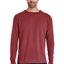 ComfortWash by Hanes Mens Long Sleeve Crewneck T-Shirt - Cayenne Red