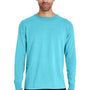 ComfortWash by Hanes Mens Long Sleeve Crewneck T-Shirt - Freshwater Blue