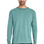 ComfortWash by Hanes Mens Long Sleeve Crewneck T-Shirt - Spanish Moss Green