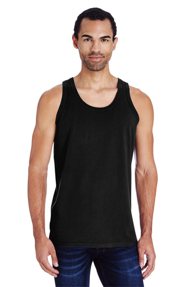 ComfortWash By Hanes GDH300 Mens Tank Top Black Front