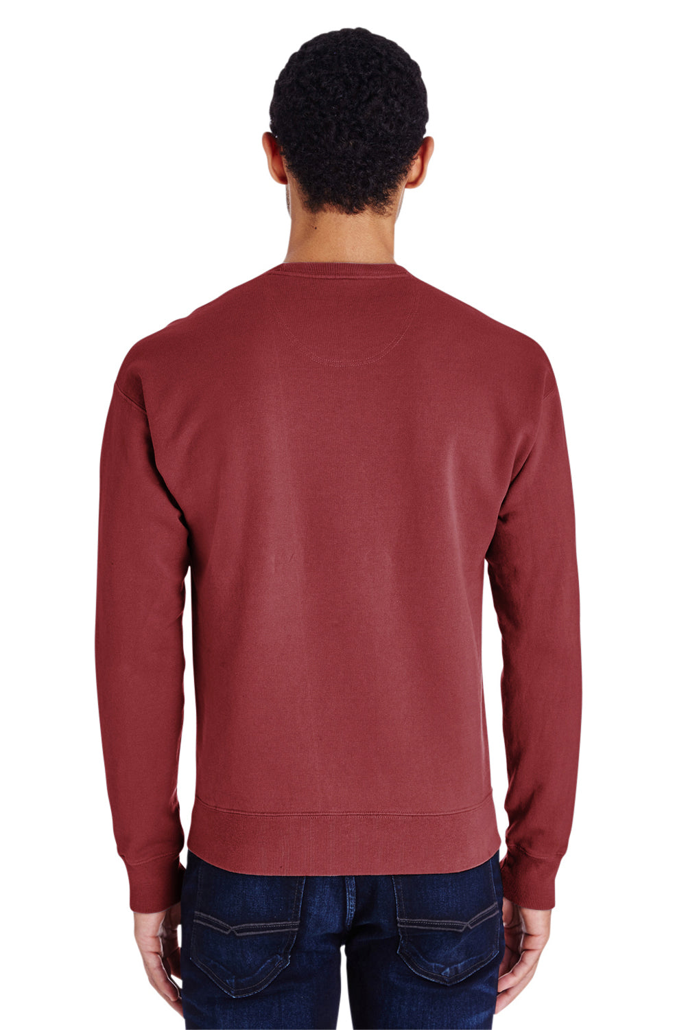 ComfortWash by Hanes GDH400 Crewneck Sweatshirt Cayenne Red Back