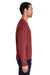 ComfortWash by Hanes GDH400 Crewneck Sweatshirt Cayenne Red Side
