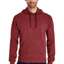 ComfortWash by Hanes Mens Hooded Sweatshirt Hoodie - Cayenne Red