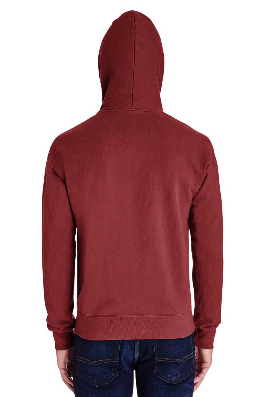 ComfortWash by Hanes GDH450 Hooded Sweatshirt Hoodie Cayenne Red Back