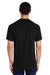 Gildan H000 Mens Hammer Short Sleeve Crewneck T-Shirt Black Back