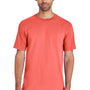 Gildan Mens Hammer Short Sleeve Crewneck T-Shirt - Coral Silk