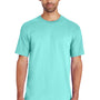 Gildan Mens Hammer Short Sleeve Crewneck T-Shirt - Chalky Mint Blue