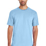 Gildan Mens Hammer Short Sleeve Crewneck T-Shirt - Chambray Blue