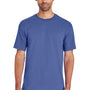 Gildan Mens Hammer Short Sleeve Crewneck T-Shirt - Flo Blue