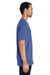 Gildan H000 Mens Hammer Short Sleeve Crewneck T-Shirt Flo Blue Side