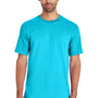 Gildan Mens Hammer Short Sleeve Crewneck T-Shirt - Lagoon Blue