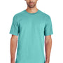 Gildan Mens Hammer Short Sleeve Crewneck T-Shirt - Seafoam Green