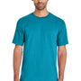Gildan Mens Hammer Short Sleeve Crewneck T-Shirt - Tropical Blue