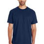 Gildan Mens Hammer Short Sleeve Crewneck T-Shirt - Sport Dark Navy Blue