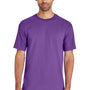 Gildan Mens Hammer Short Sleeve Crewneck T-Shirt - Sport Purple