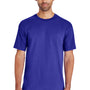 Gildan Mens Hammer Short Sleeve Crewneck T-Shirt - Sport Royal Blue