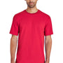 Gildan Mens Hammer Short Sleeve Crewneck T-Shirt - Sport Scarlet Red