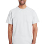Gildan Mens Hammer Short Sleeve Crewneck T-Shirt w/ Pocket - White